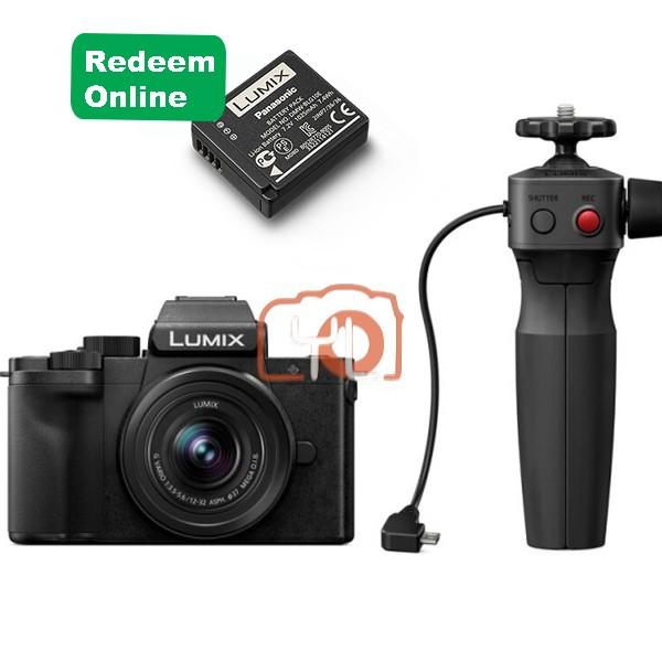 Panasonic Lumix DC-G100 W/ 12-32mm + Tripod Grip Kit (Free 16GB SD Card & 64GB SD Card)