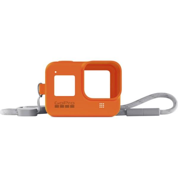 GoPro HERO8 Sleeve + Lanyard (Hyper Orange)