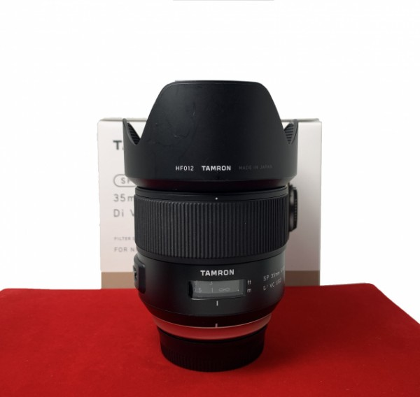 [USED-PJ33] Tamron 35MM F1.8 SP DI VC USD (Nikon), 90% Like New Condition (S/N:011148)