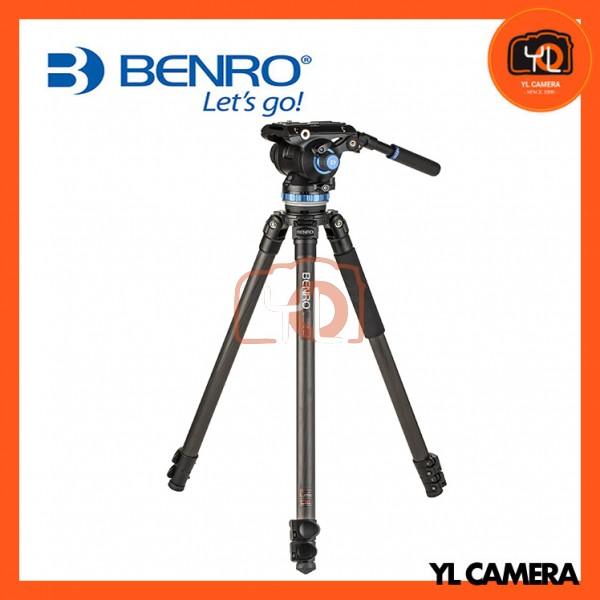 Benro C373FBS8 S8 Video Head and CF Flip Lock Legs Carbon Fiber Video Tripod Kit
