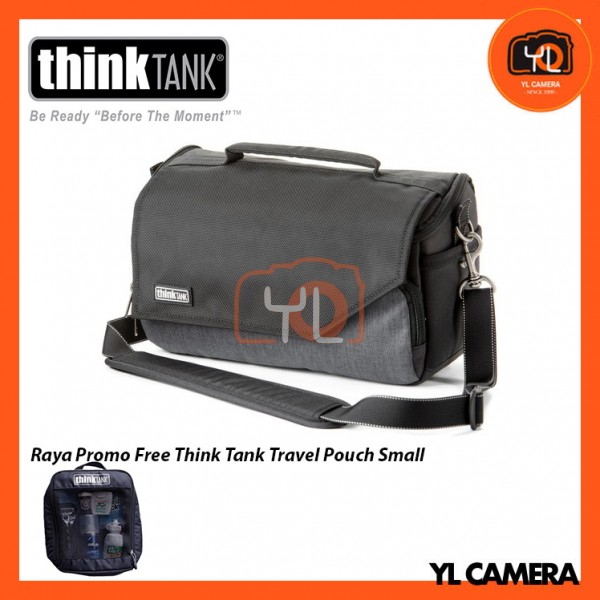 Think Tank Photo Mirrorless Mover 25i Camera Bag (Pewter) Free Think Tank Photo Travel Pouch - Small