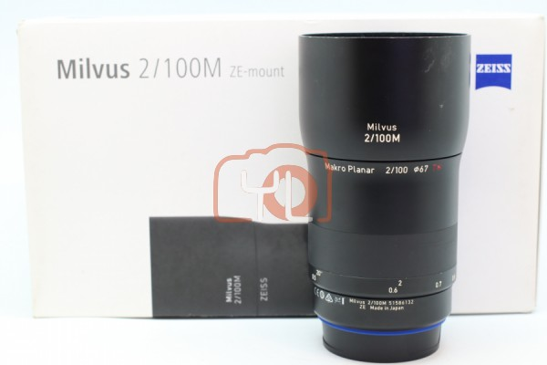 [USED-PUDU] ZEISS 100mm F2M Milvus ZE Macro Lens for Canon EF 90%LIKE NEW CONDITION SN:51586132