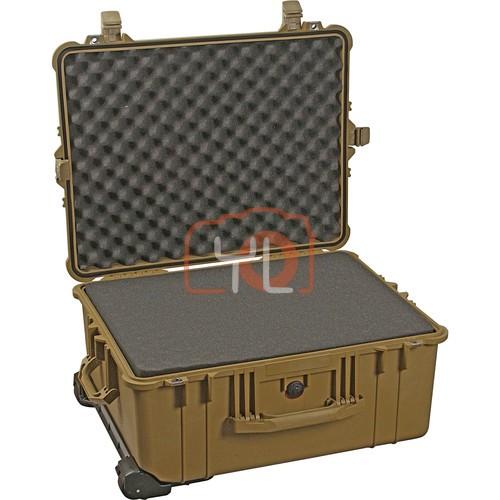 Pelican 1610 Cases with Foam (Desert Tan)