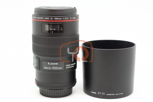 [USED-PUDU] Canon 100mm F2.8 EF L IS Macro 96%LIKE NEW CONDITION SN:3208814
