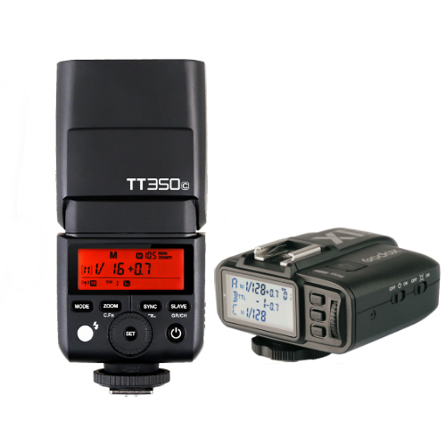 Godox TT350C Mini Thinklite TTL Flash for Canon Cameras Combo Set X1TC