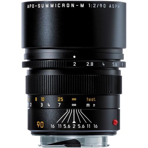 Leica 90mm F2 APO-Summicron-M ASPH. - Black (11884)