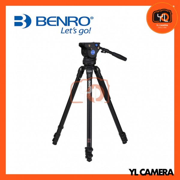 Benro A373FBV4H Series 3 Aluminum Video Tripod and 75mm BV4 Head Kit