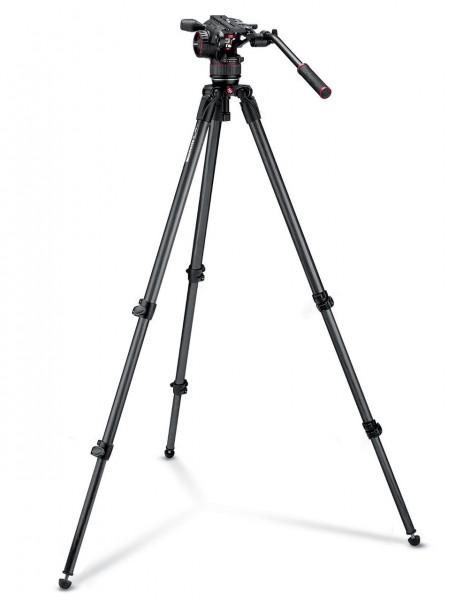 Manfrotto MVKN8C Nitrotech N8 Video Head With Carbon Fibre Single Leg Tripod Kit