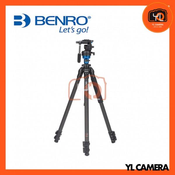 Benro C1573FS2 S2 Video Head and CF Flip Lock Legs Carbon Fiber Video Tripod Kit