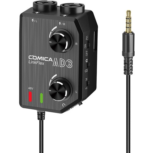 (PRE-ORDER) Comica Audio LINKFLEX AD3 Dual-Channel Audio Mixer for Camera and Smartphone