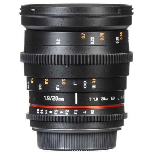 Samyang 20mm T1.9 Cine DS Lens for Nikon F Mount