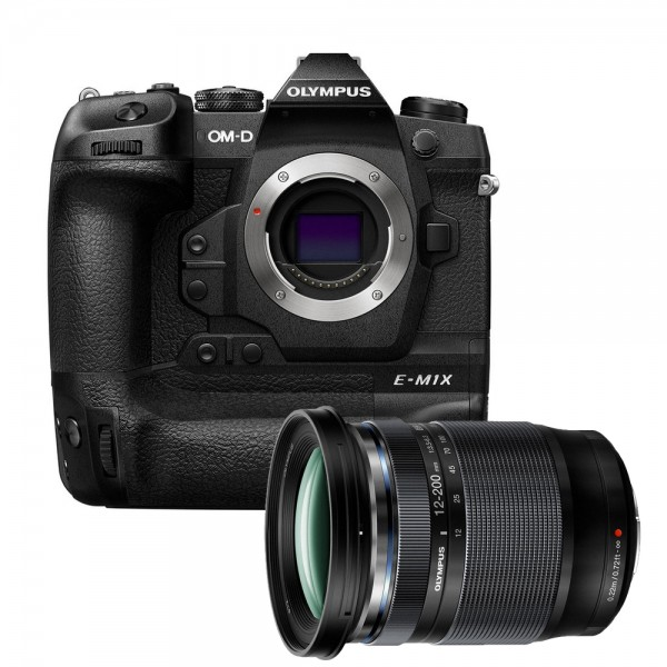 (RAYA PROMO) Olympus OM-D E-M1X + 12-200mm f/3.5-6.3 M.Zuiko [Free SanDisk 64GB 300MB/s SD Card]