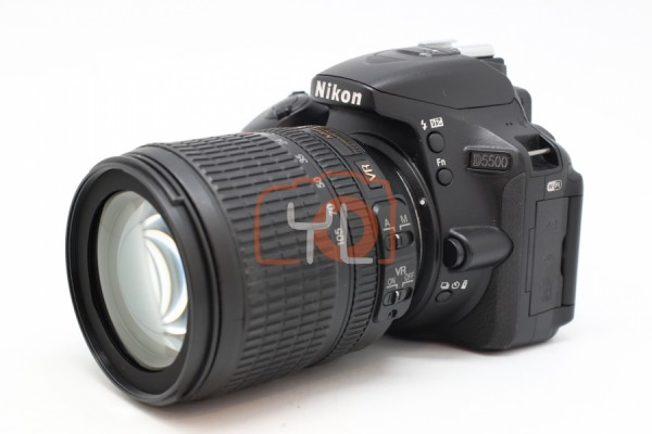 [USED-PUDU] NIKON D5500 CAMERA With 18-105MM F3.5-5.6G VR 90%LIKE NEW CONDITION SN:6702293