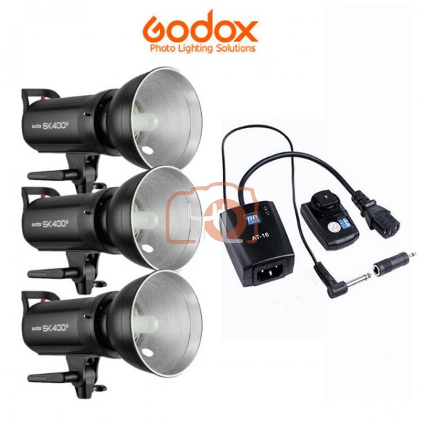 Godox SK400II Studio Light 3 Light Trigger Kit