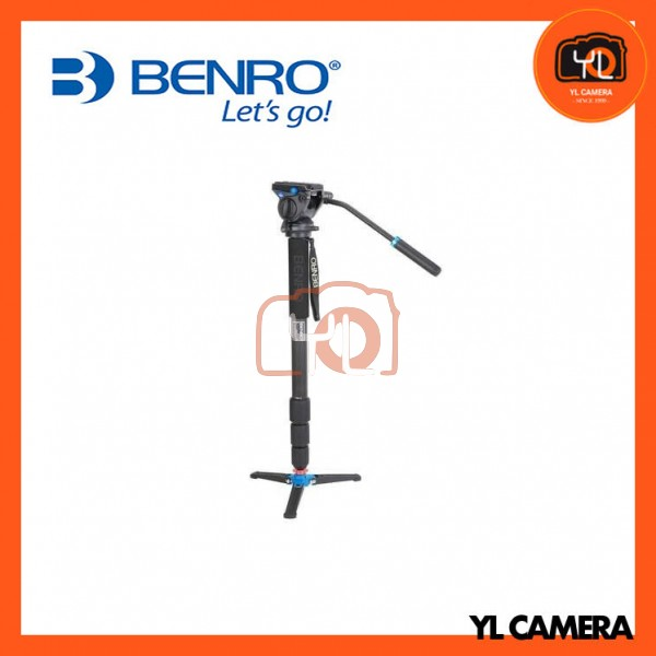 Benro C48TDS4 Carbon Fiber 4 Section Video Monopod Kit