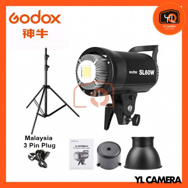 Godox SL60W LED Video Light With 190cm Light Stand