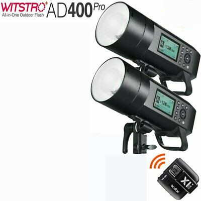 Godox AD400Pro Witstro All-In-One Outdoor Flash X1T-O Fro Olympus/Panasonic  2 Light Combo Set