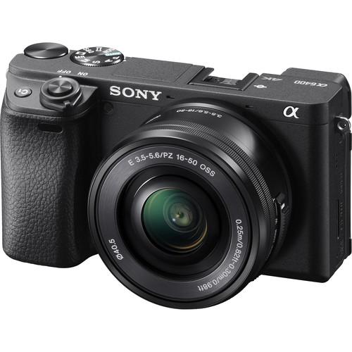 Sony a6400 (Black) + E PZ 16-50mm F3.5-5.6 OSS [Free 64GB SD Card]
