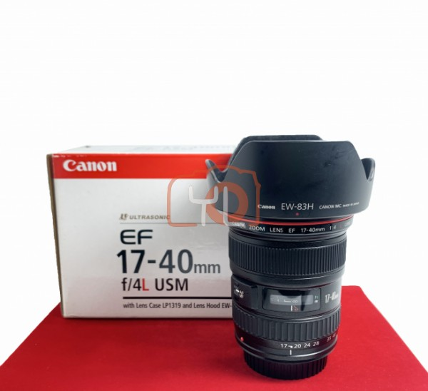 [USED-PJ33] Canon 17-40MM F4 L USM EF, 90% Like New Condition (S/N:3807467)