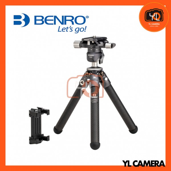 Benro TablePod Kit Carbon Fiber Tripod and Ball Head with Quick Release Plate and Smartphone Adapter