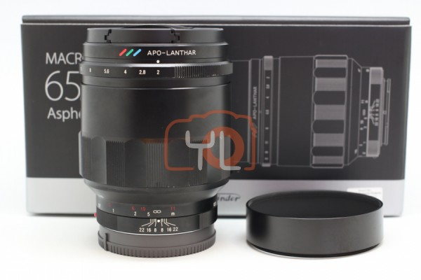 [USED-PUDU] Voigtlander 65MM F2 Macro APO-Lanthar ASPH For E-Mount 88%LIKE NEW CONDITION SN:07922874