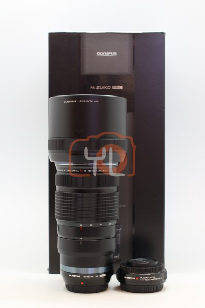 [USED-PUDU] Olympus 40-150MM F2.8 PRO M.Zuiko MC-14 1.4x Teleconverter 95%LIKE NEW CONDITION SN:ABV287357