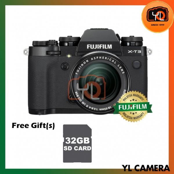 Fujifilm X-T3 + XF 18-55mm f/2.8-4R LM OIS (Black) [Free 32GB SD Card UHS-II]
