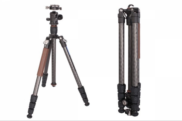 Leofoto LN-254CT W/ NB-34 25mm 4 Section Reverse Fold Carbon Fibre Tripod Kit