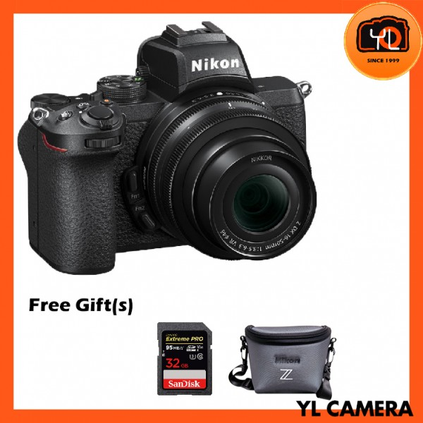 Nikon Z 50 Camera + DX 16-50mm F3.5-6.3 VR (Free 32GB ExtremePro SD Card + Camera Bag)