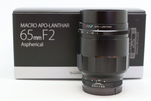 [USED-PUDU] Voigtlander 65MM F2 Macro APO-Lanthar ASPH For E-Mount 98%LIKE NEW CONDITION SN:08740840