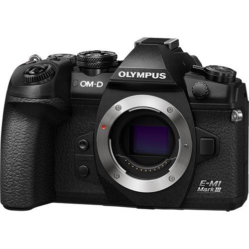 Olympus E-M1 Mark III – Black (FREE Lexar 64GB 150MB SD Card)