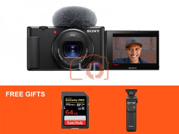 Sony Z-V1 Vlog Digtal Camera (Black) W/ Sony Wireless Shooting Grip