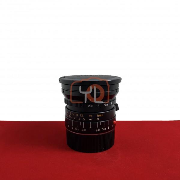 [USED-PJ33] Leica 21MM F2.8 Elmarit-M ASPH 6 Bits, 95% Like New Condition (S/N:4038911)