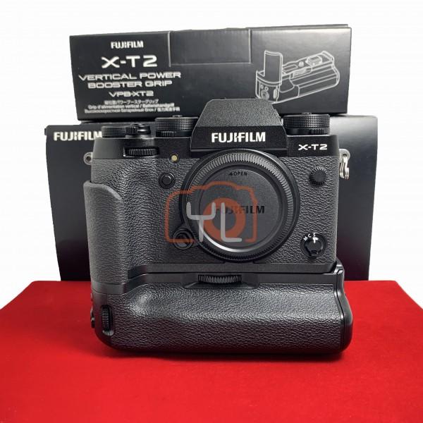 [USED-PJ33] Fujifilm X-T2 Body + VBP-XT2 Battery Grip, 90% Like New Condition (S/N:63M62902)