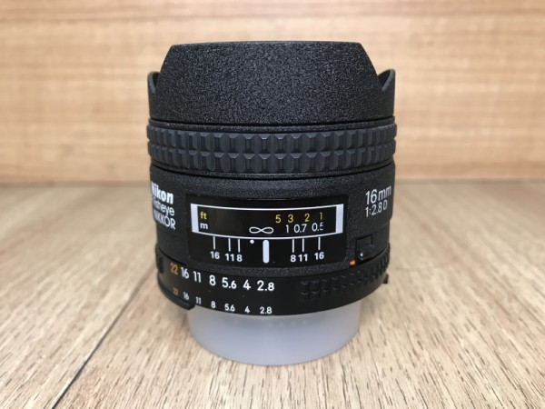 [USED @ YL LOW YAT]-Nikon 16mm F2.8 AFD Fisheye Lens,90% Condition Like New,S/N:614197