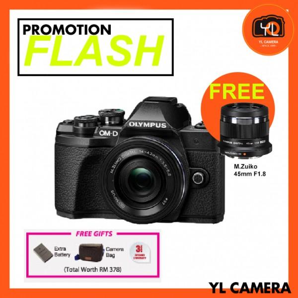 (FLASHPromotion) Olympus OM-D E-M10 Mark III + M.Zuiko 14-42mm EZ (Black) [Free Lexar 32GB 95MB SD Card + Benro ELZ10 Camera Bag]