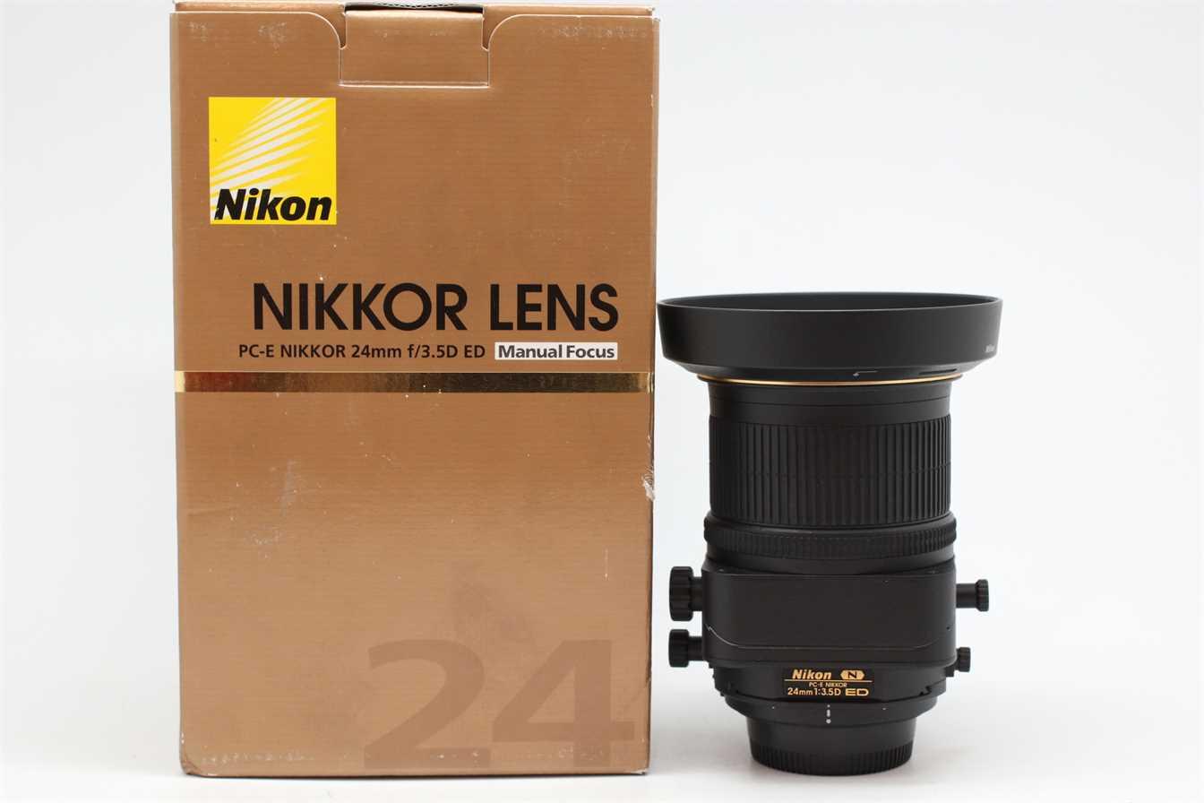 [USED-PUDU] NIKON 24MM F3.5D PC-E ED N Tilt/Shift LENS 98%LIKE NEW CONDITION  SN:211387