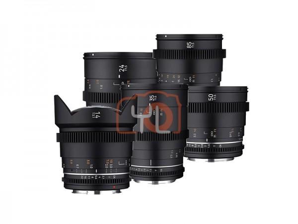 Samyang VDLSR MK2 Video Lens Set (14mm, 24mm, 35mm, 50mm, 85mm) - Micrro Four Thirds