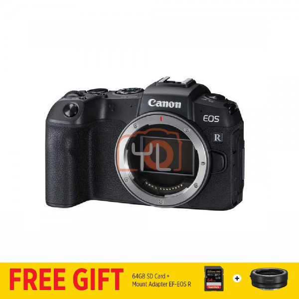Canon EOS RP (Body Only) [Free EF-EOS R Lens Mount Adapter + SanDisk ExtremePRO 64GB SD Card]