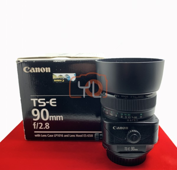 [USED-PJ33] Canon TS-E 90mm F2.8 Tilt-Shift, 95% Like New Condition (S/N:24638)