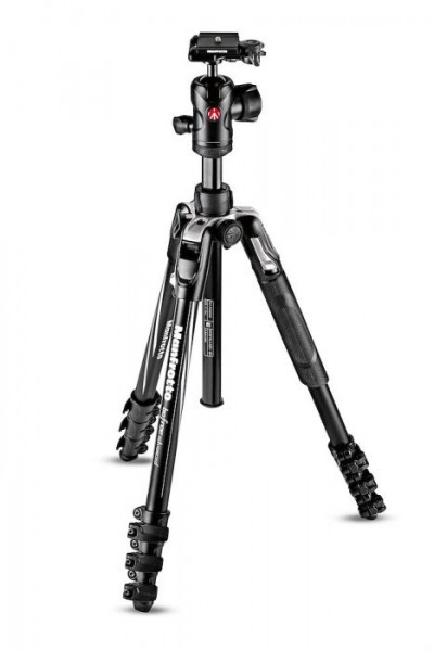 Manfrotto MKBFRLA4BK-BH Befree Advanced Travel Aluminum Tripod with 494 Ball Head (Lever Locks, Black)