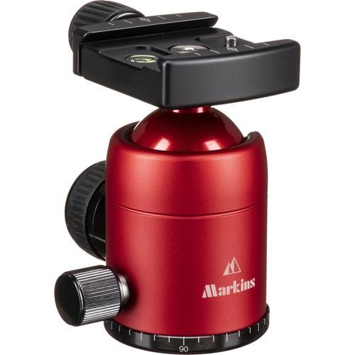 Markins Q-Ball Q3i-Tr Traveler with Quick Turn Knob Quick Shoe (Red)