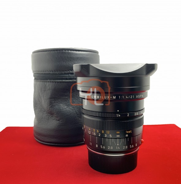 [USED-PJ33] Leica 21mm F1.4 Summilux-m ASPH 11647, 90% Like New Condition (S/N:4197075)