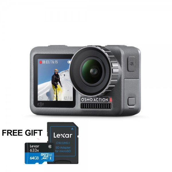DJI Osmo Action 4K Camera (FREE Lexar 64GB MICRO SD)