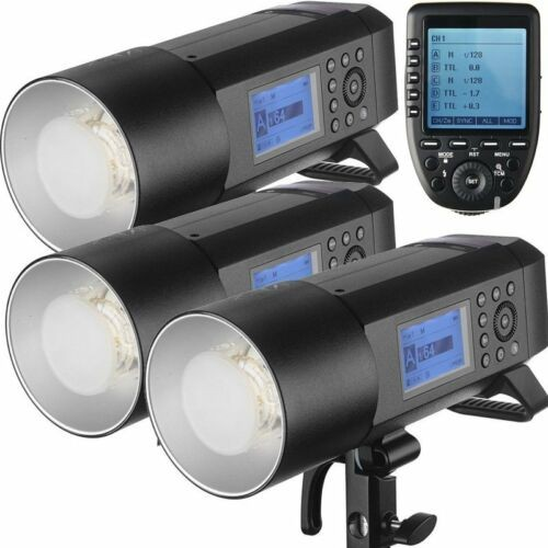 Godox AD400Pro Witstro All-In-One Outdoor Flash XPro-O Fro Olympus/Panasonic 3 Light Combo Set