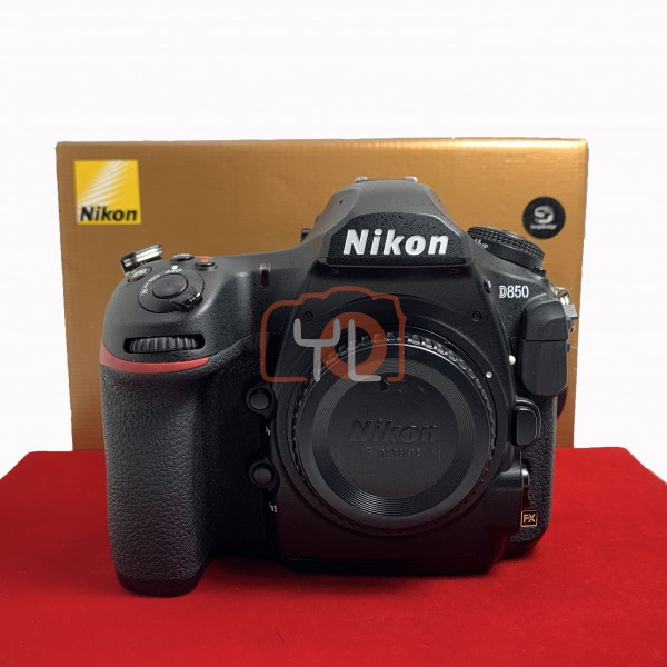[USED-PJ33] Nikon D850 Body (Shutter Court :12K ), 85% Like New Condition (S/N:8003621)