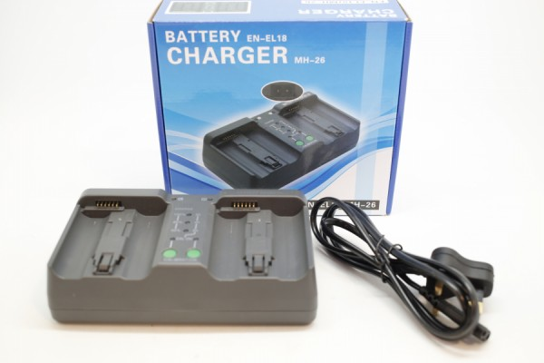 DBK Dual LCD Battery Charger EN-EL18 (Nikon Battery)