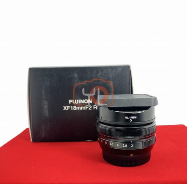 [USED-PJ33] Fujifilm 18MM F2 R XF, 95% Like New Condition (S/N:23A00810)