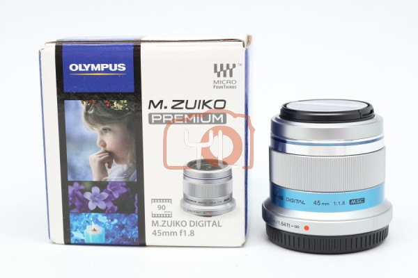 [USED-PUDU] Olympus 45mm F1.8 M.Zuiko (Silver) 99.9%LIKE NEW CONDITION SN:ABMA73539