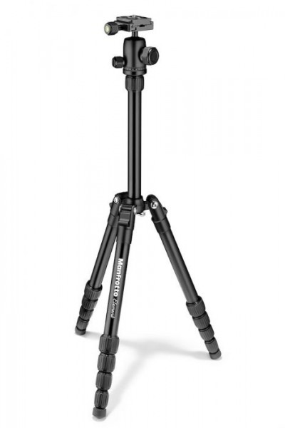 Manfrotto MKELES5BK-BH Element Small Aluminum Traveler Tripod (Black)